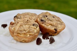 Coconut Chocolate Chip Banana Muffin Recipe